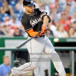 WASHINGTON, DC - MAY 04:  Giancarlo Stanton #27 of the Miami Marlins bats against the Washington Nationals at Nationals Park on May 4, 2015 in Washington, DC.  (Photo by G Fiume/Getty Images)