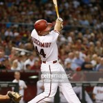 during the MLB game at Chase Field on June 5, 2015 in Phoenix, Arizona.